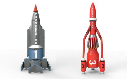 Corgi Thunderbirds Thunderbird 1 & 3 Diecast Model Set